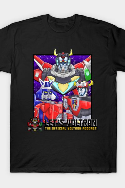 Let's Voltron by Blacky Shepherd T-Shirt