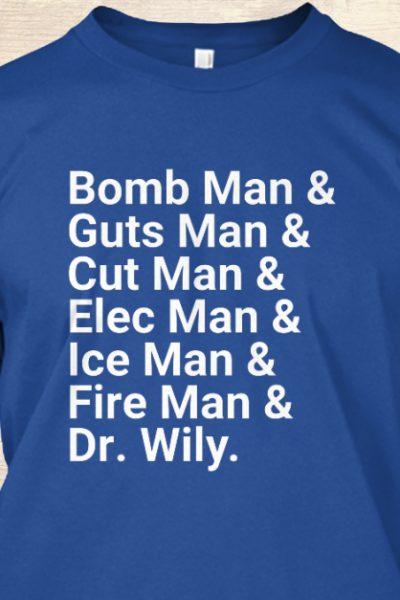 Mega Man Bosses Helvetica List