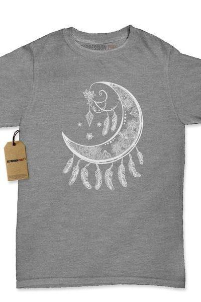 Moon Dream Catcher Womens T-shirt