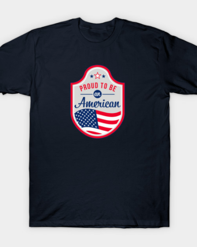 Proud to be an American patch T-Shirt