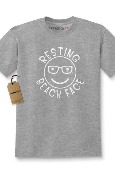Resting Beach Face Kids T-shirt