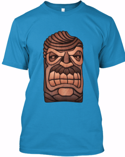 Ron Swanson Tiki Mask T-Shirt