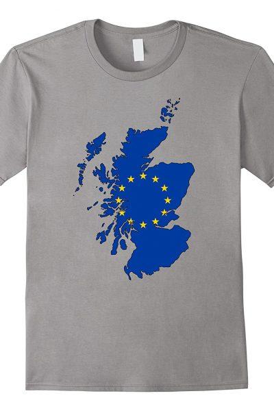Scotland Map with EU Flag