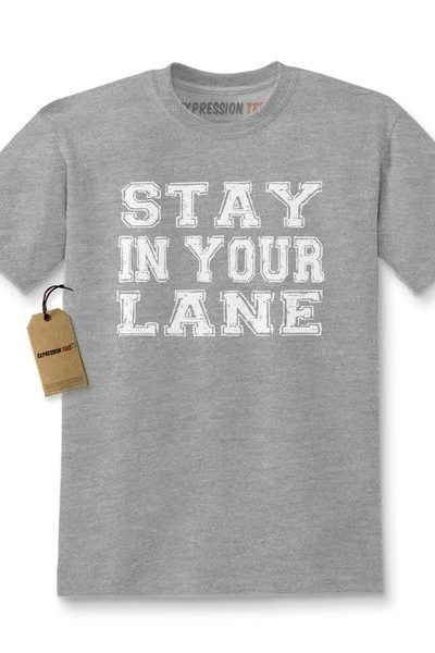 Stay In Your Lane Kids T-shirt
