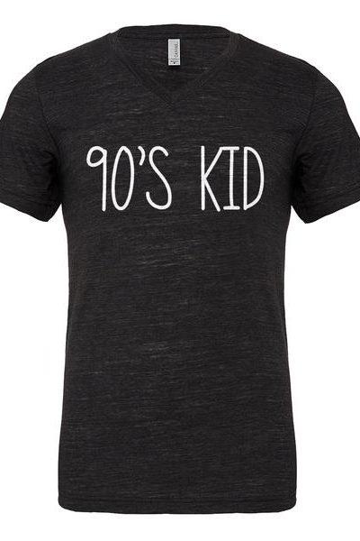 90s Kid Mens Vneck Short Sleeve T-shirt