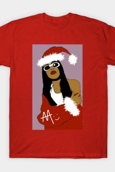Aaliyah Christmas Theme T-Shirt