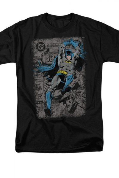Batman – Detective #487 Distress Comic Cover Adult Regular Fit T-Shirt
