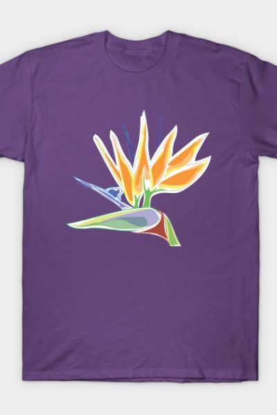Bird Of Paradise Tropical Plant by Cricky T-Shirt