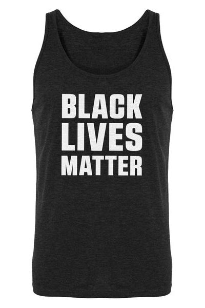 Black Lives Matter Mens Sleeveless Tank Top