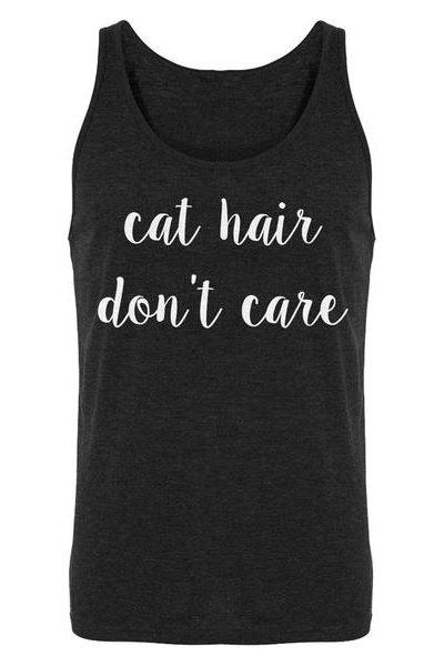 Cat Hair Don't Care Mens Sleeveless Tank Top