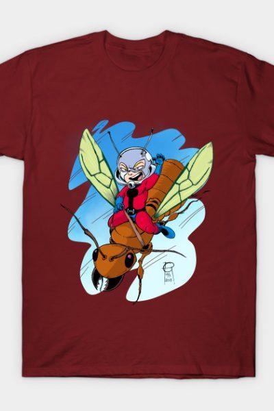 Chibi Ant-Man Riding a Flying Ant T-Shirt
