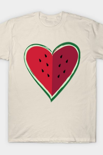 Chill Watermelon Heart by Crickly T-Shirt