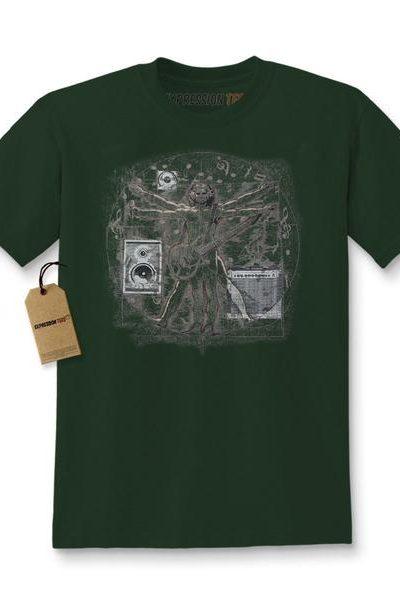 Expression Tees Davinci Vitruvian Rock Star Kids T-shirt