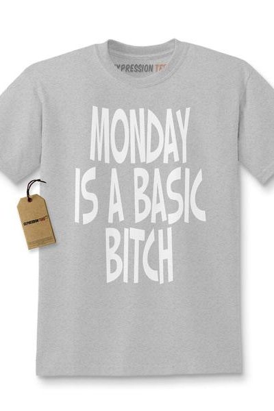 Expression Tees Monday Is a Basic Bitch Kids T-shirt