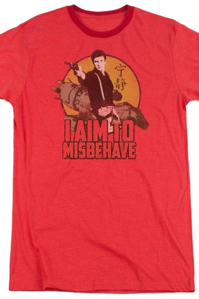 Firefly – I Aim To Misbehave Adult Ringer T- Shirt