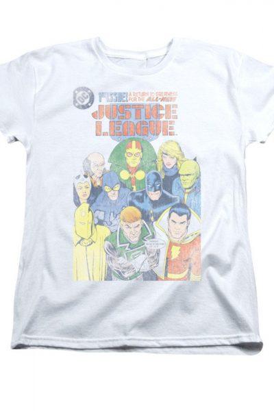 Justice League – #1  Comic Cover Women's T-Shirt