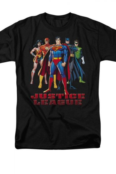 Justice League – In League Adult Regular Fit T-Shirt