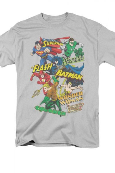 Justice League of America – Justice Collage Adult Regular Fit T-Shirt