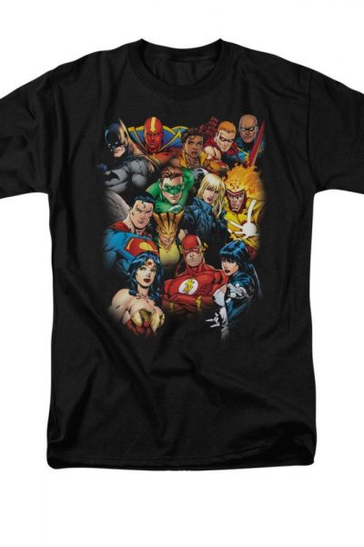Justice League of America – The League's All Here Adult Regular Fit T-Shirt