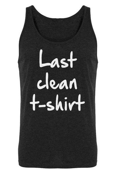 Last Clean Tshirt Mens Sleeveless Tank Top