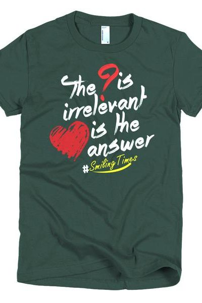 Love is the Answer T Shirt Women's