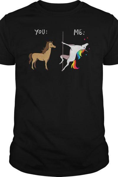 Me Unicorn you horse pole dancing shirt, hoodie, tank top and v-neck tee