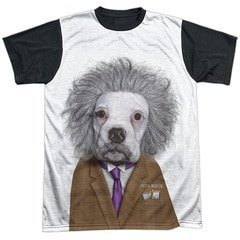 Pets Rock – Einstein Brain Black Back Sublimation T-Shirt | TeeShirtPalace