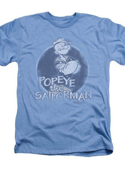 Popeye – Original Sailorman Adult Regular Fit Heather T-Shirt