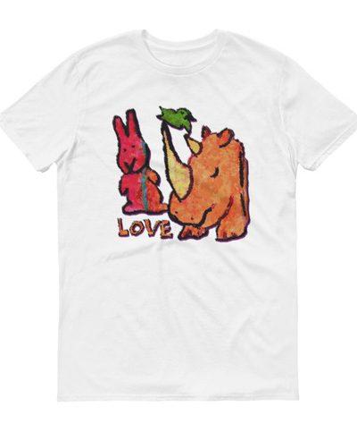Short sleeve t-shirt Love Hex Rhino from Doodleslice