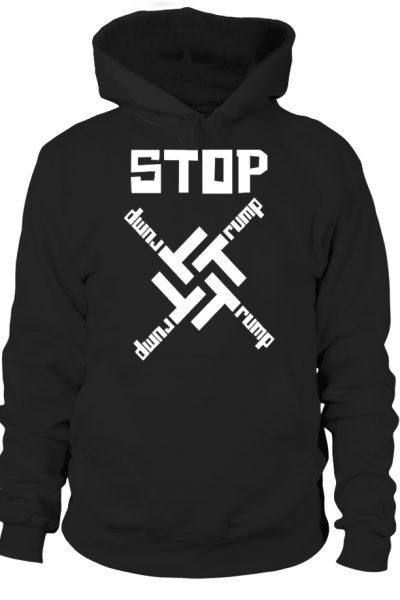 STOP Trump! Anti Trump Swastika Logo