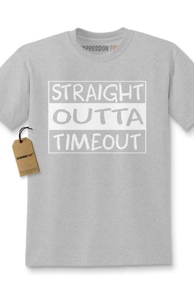 Straight Outta Timeout Time Out Kids T-shirt