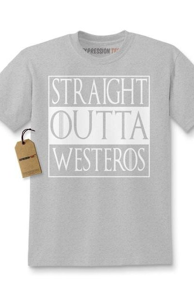 Straight Outta Westeros Kids T-shirt