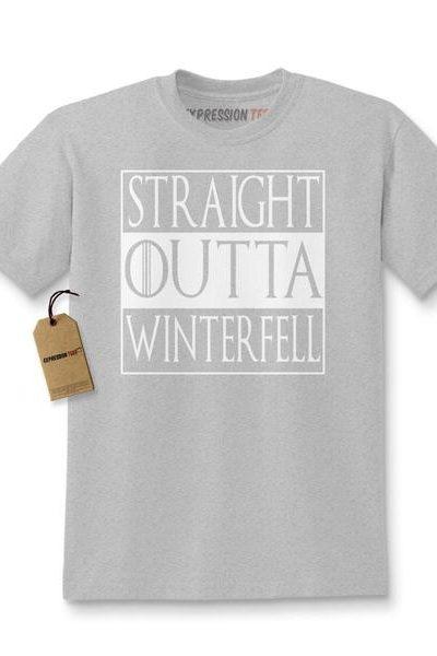 Straight Outta Winterfell Kids T-shirt