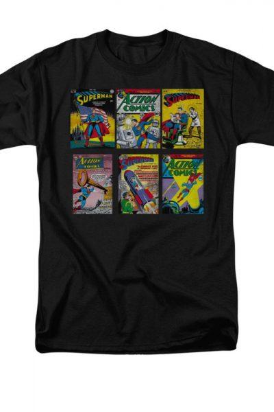 Superman – Comic Covers Adult Regular Fit T-Shirt
