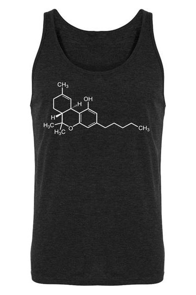 THC Molecule Mens Sleeveless Tank Top