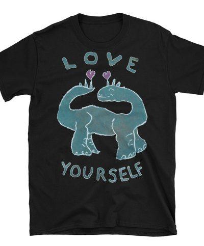 Unisex T-Shirt – Love Yourself Dinosaur from Doodleslice