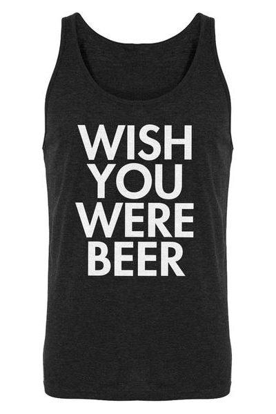 Wish You Were Beer Mens Sleeveless Tank Top