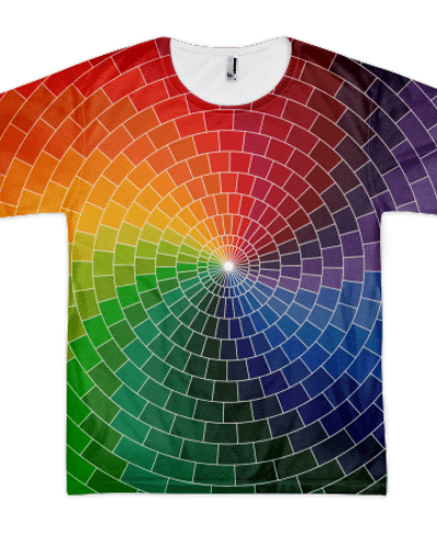 Allover Rainbow Swirl T-Shirt (Unisex)