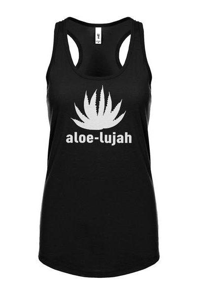 Aloe-lujah Womens Sleeveless Tank Top