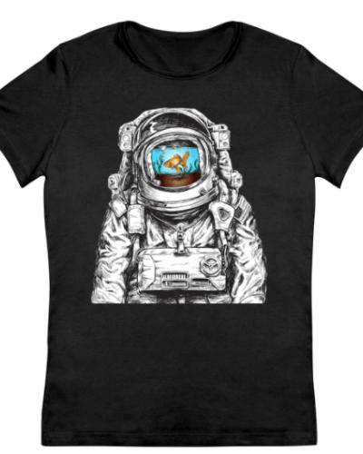 Astronaut With Goldfish Women's T-Shirt