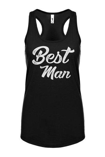 Best Man Womens Sleeveless Tank Top