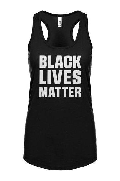 Black Lives Matter Womens Sleeveless Tank Top