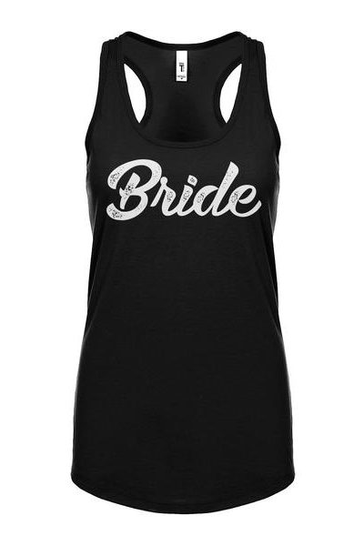 Bride Womens Sleeveless Tank Top