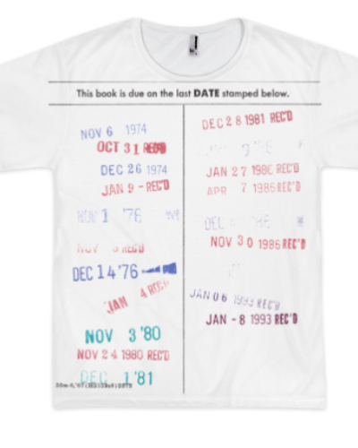 Date Due Allover T-Shirt