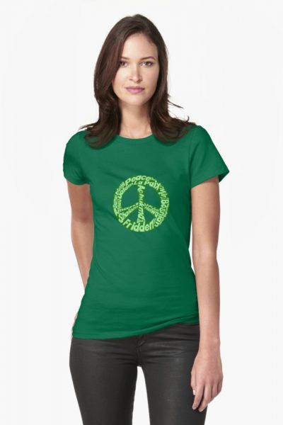 Green peace sign world languages