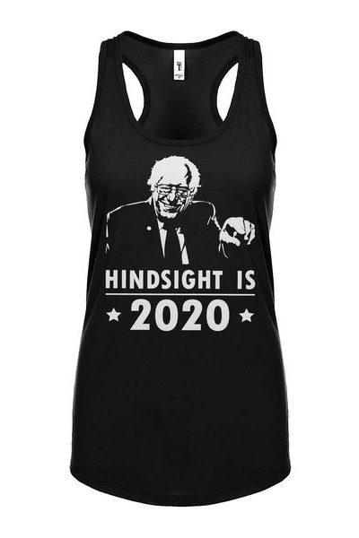 Hindsight 2020 Bernie Womens Sleeveless Tank Top