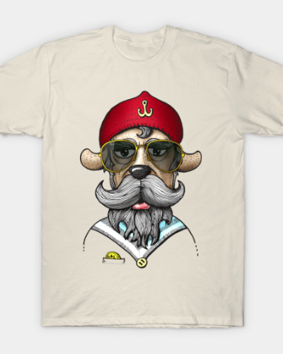 Hipster dog with sunglasses