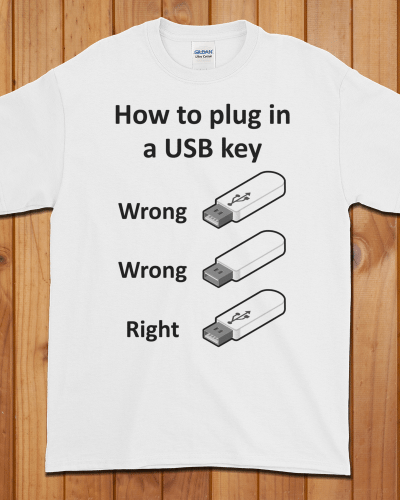 How to Plug in a USB Key T-Shirt (Unisex)