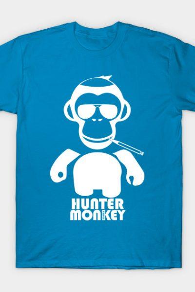 Hunter Monkey White Logo T-Shirt
