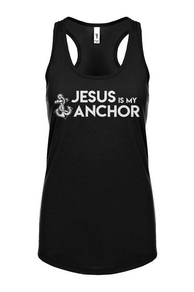 Jesus is My Anchor Womens Sleeveless Tank Top